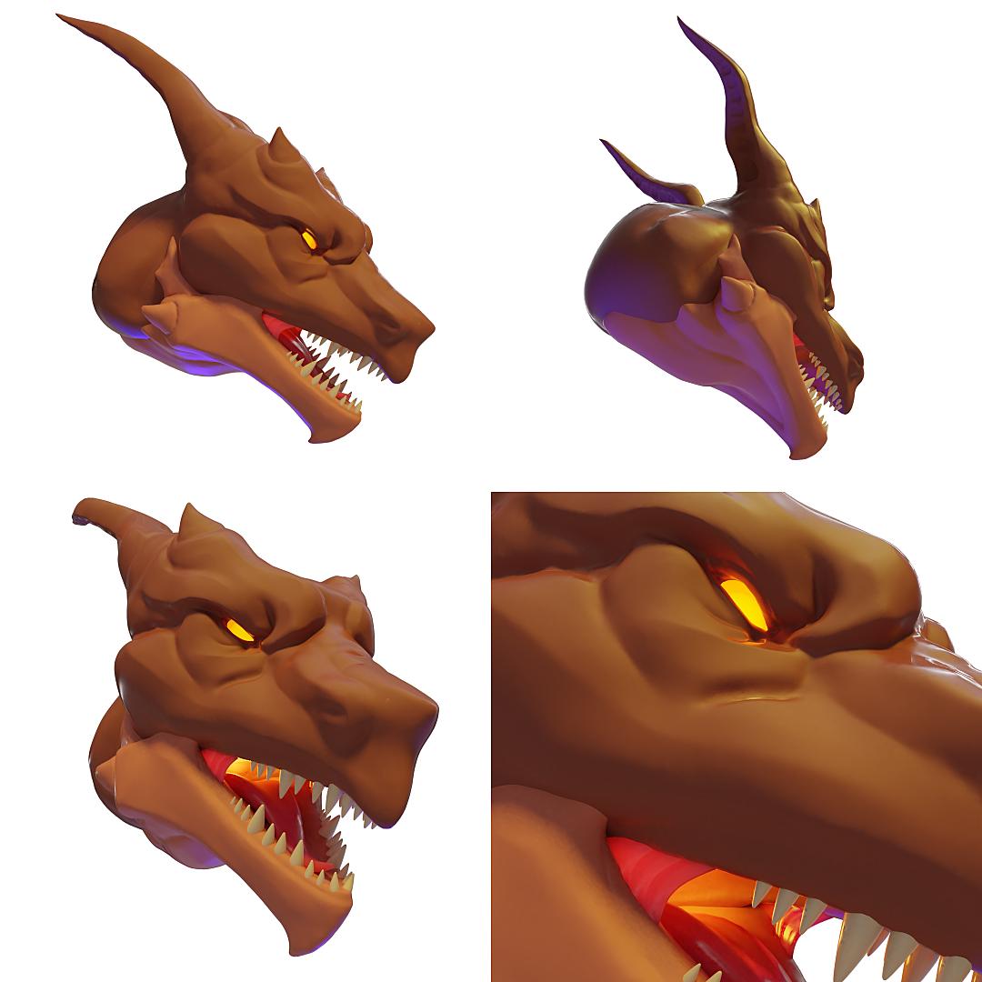 Dragon head sculpt