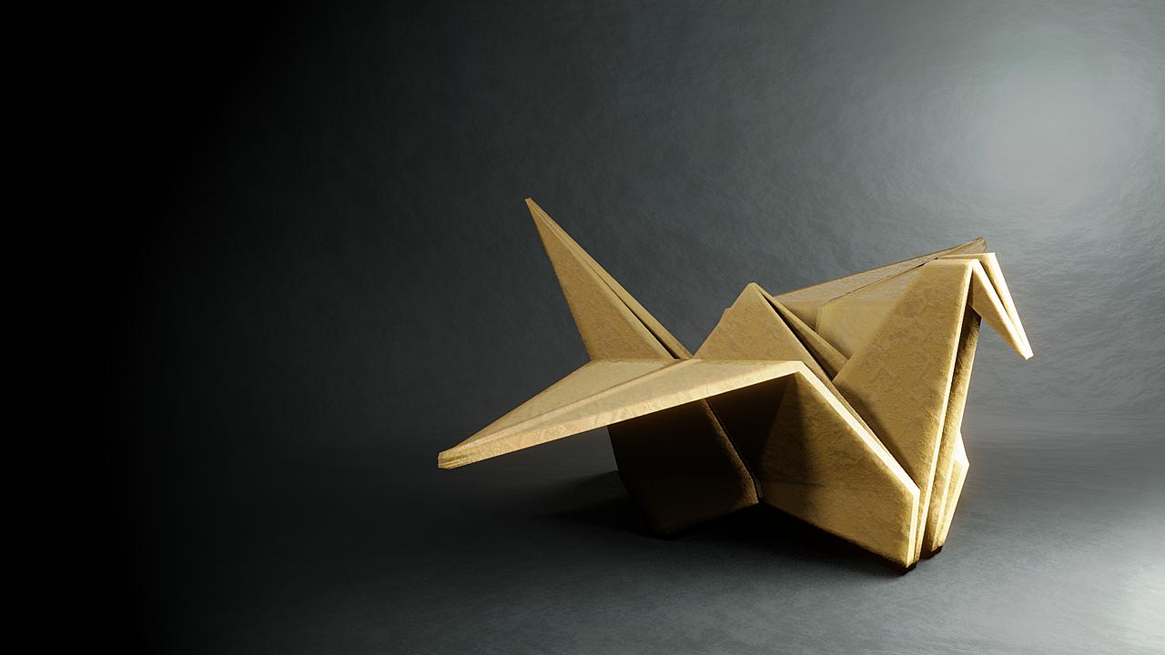 Paper crane: lighting match exercise