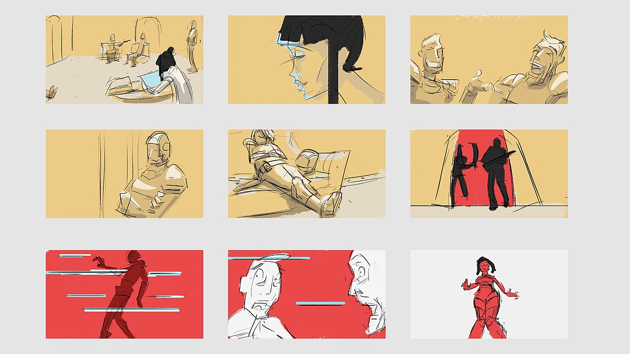 Pen & Paper Sketch Storyboard