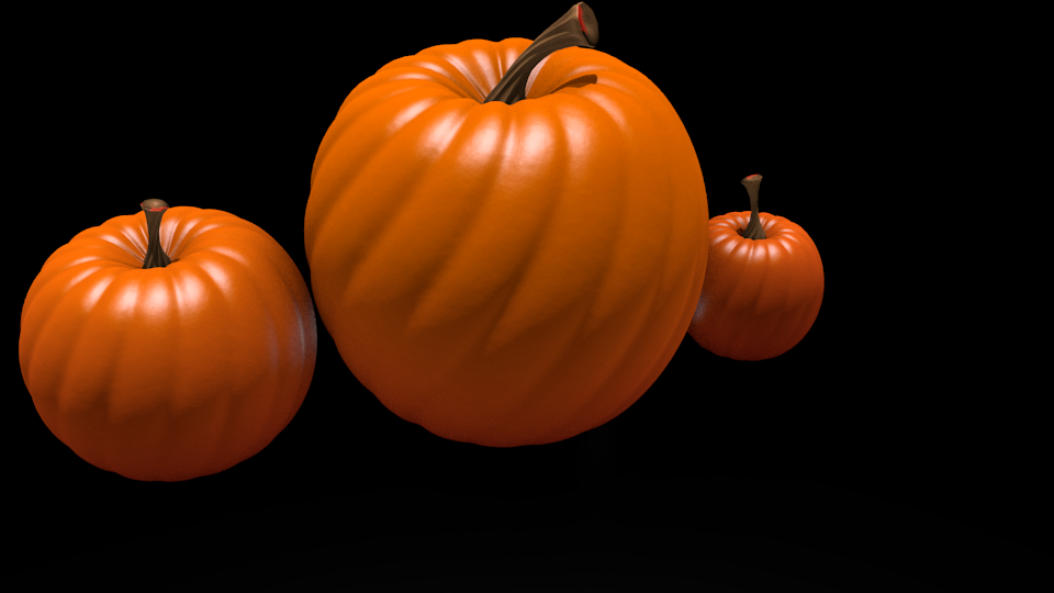 First Render- Pumpkins