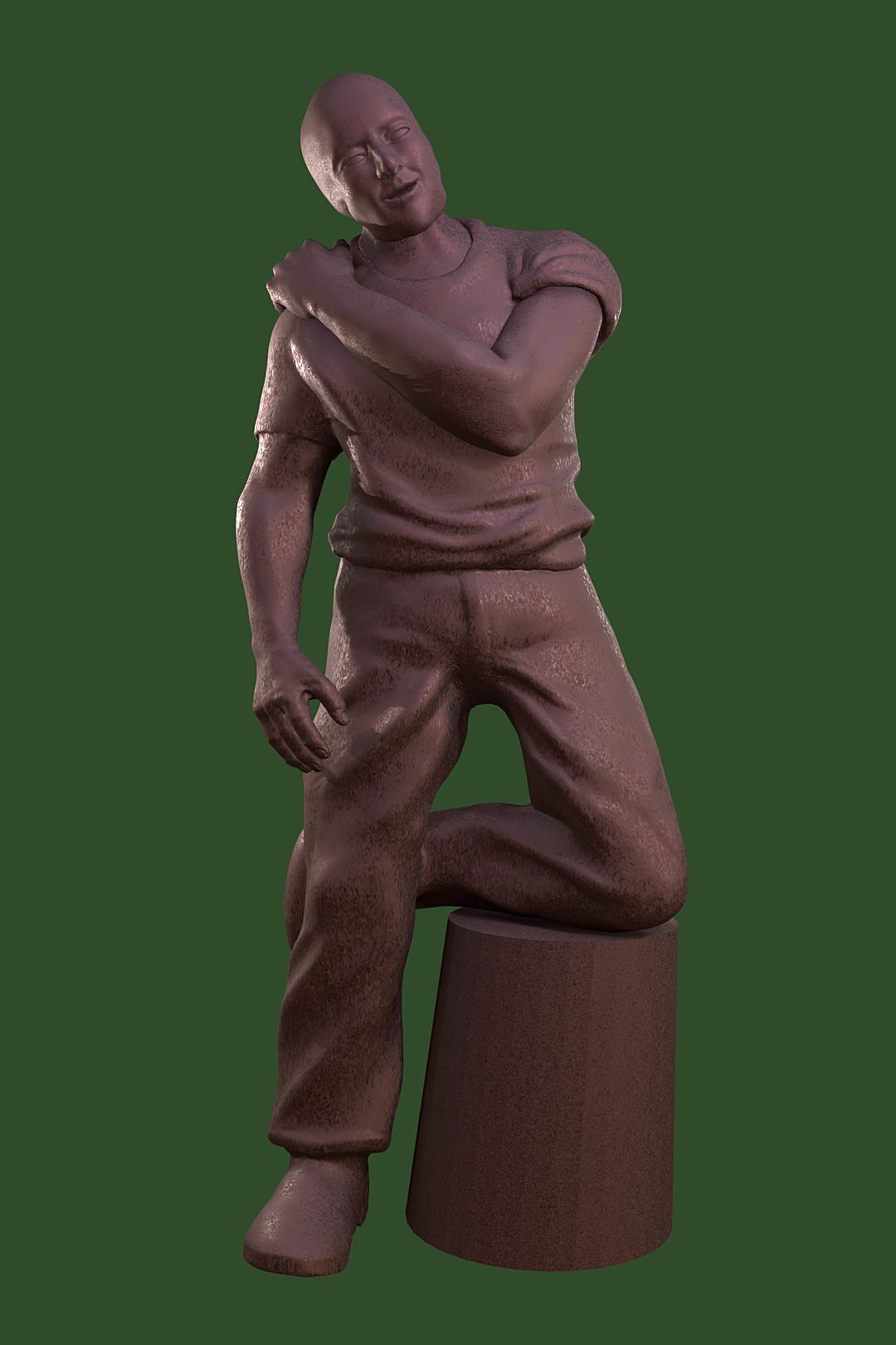 Practice sculpt - male figure