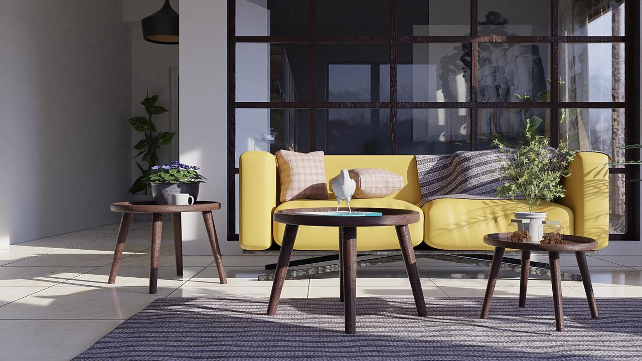 Interior-living,Dining & Sitting Room
