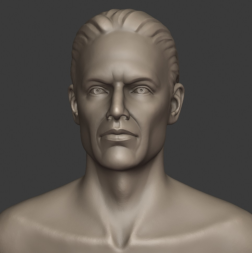 Male bust quick sketch