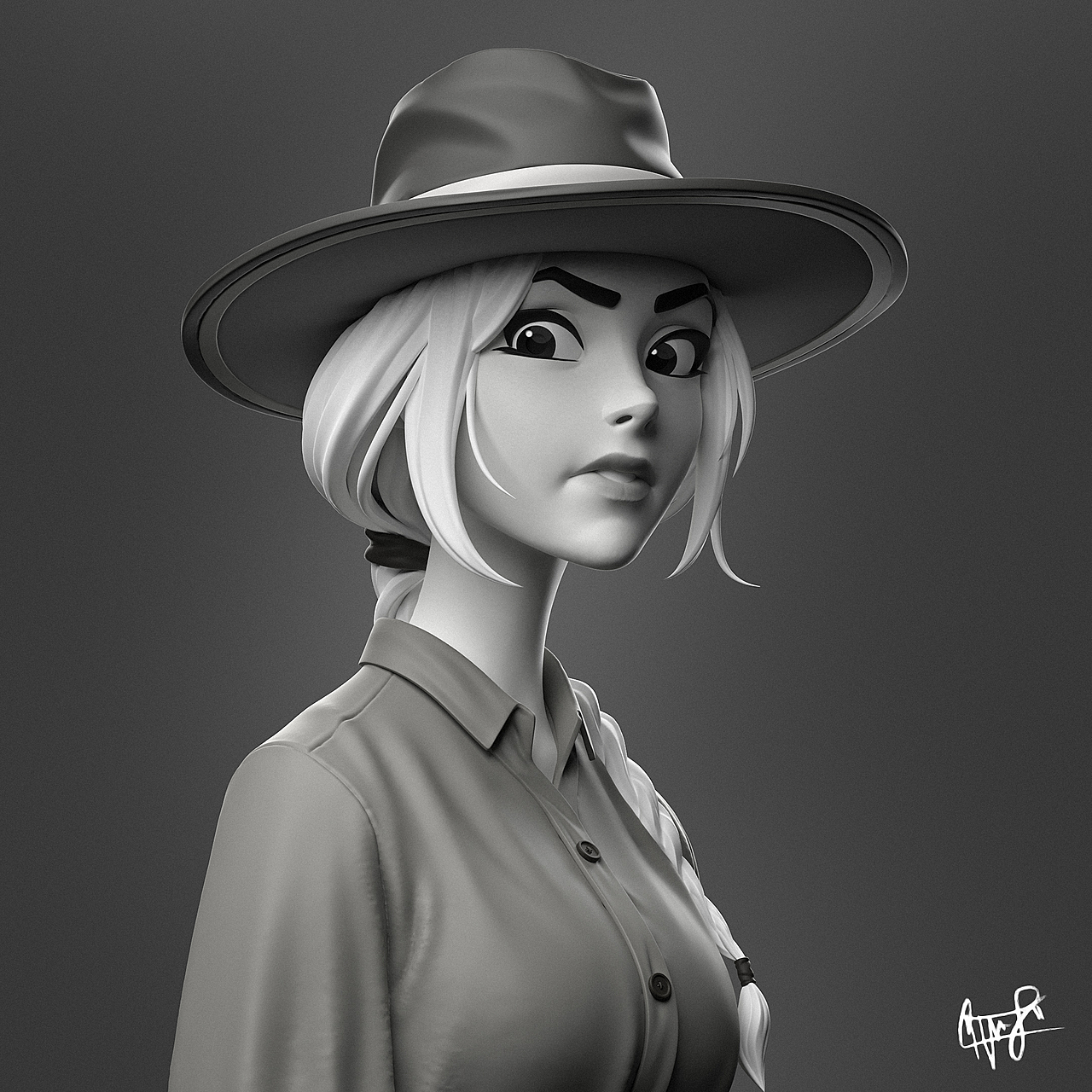 Cowgirl Sculpting Timelapse