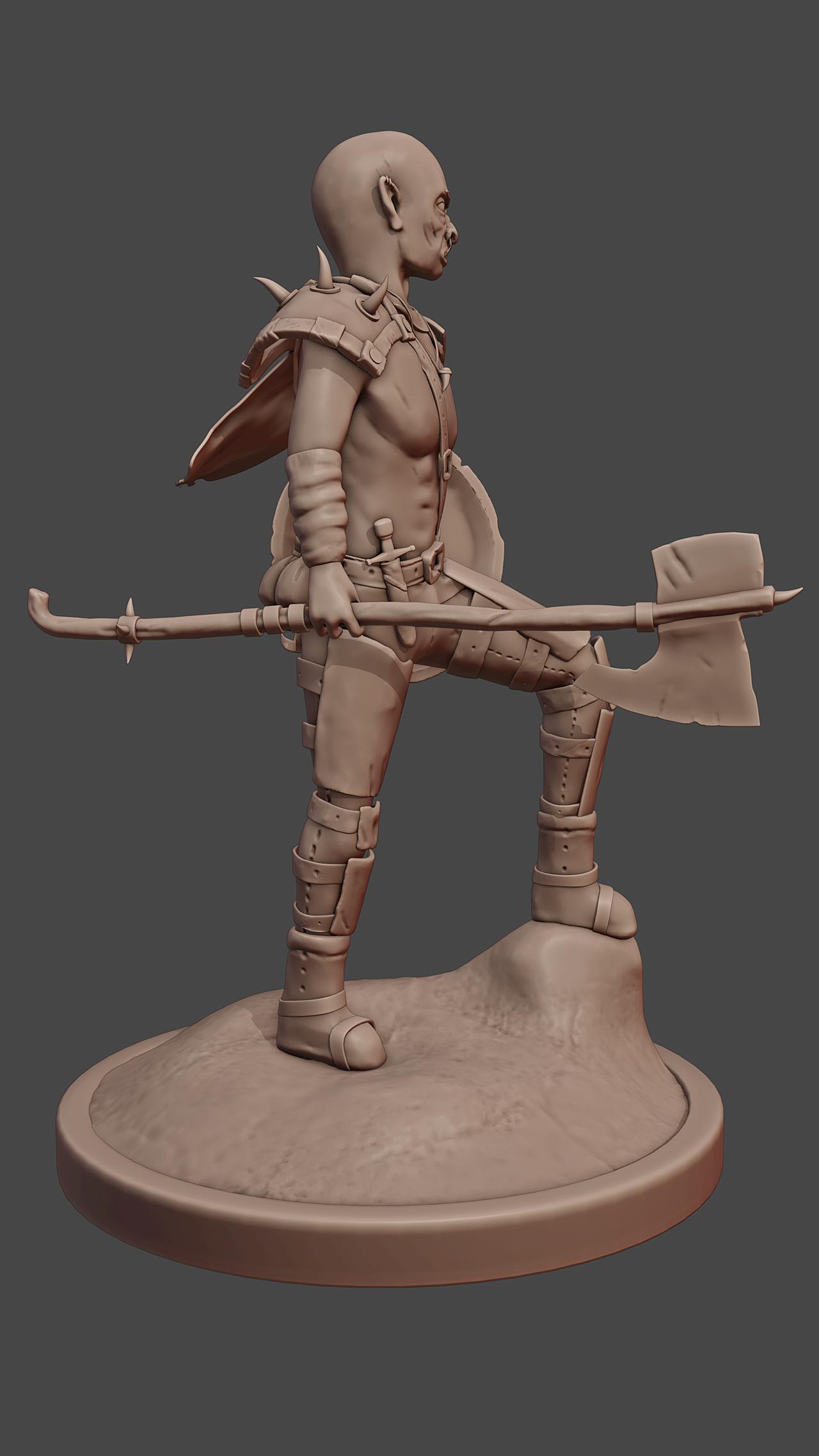 3d Orc Character Sculpt