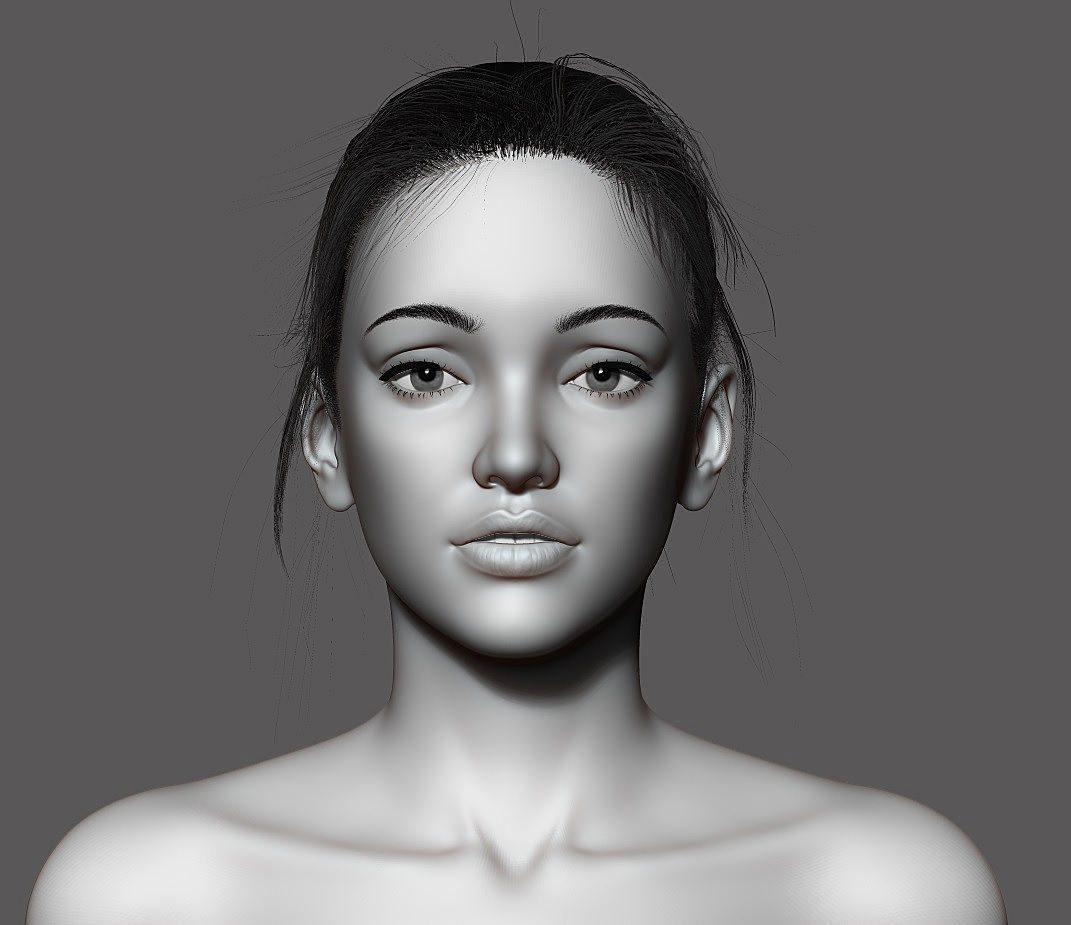 Female bust sculpting exercise