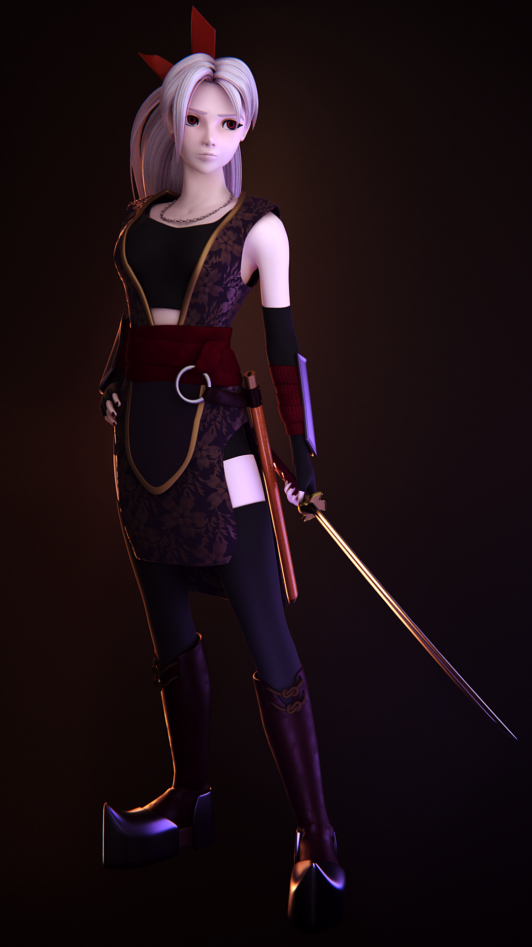 Stylized Female Warrior Character