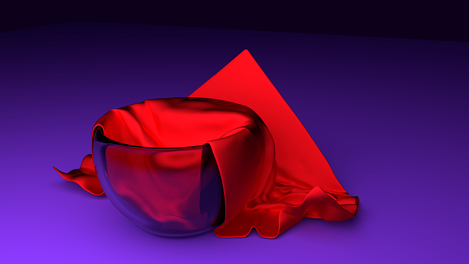Frame From A Cloth Animation.