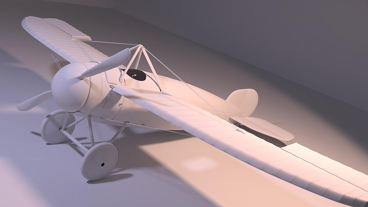 Bristol M1C inspired plane  modelling