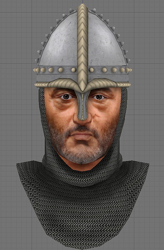 Godefroy de Montmirail's head finished