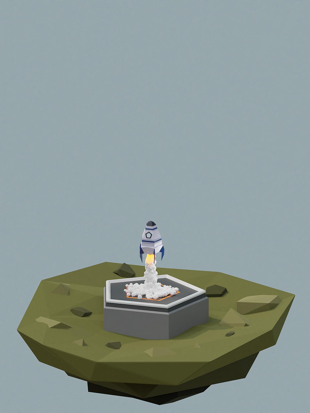 Rocket Launch Animation