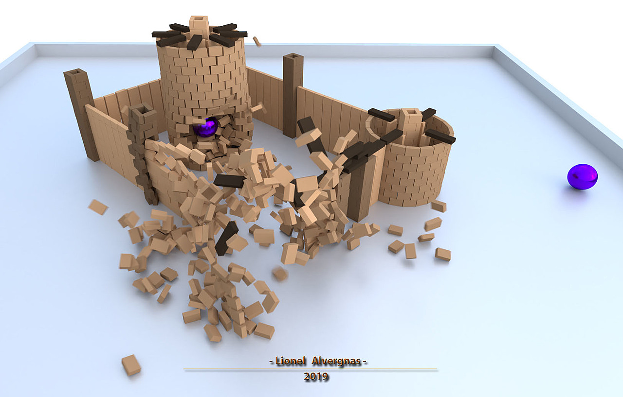 Funny physics simulation with a little Castle