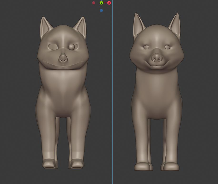 Model a Husky Puppy