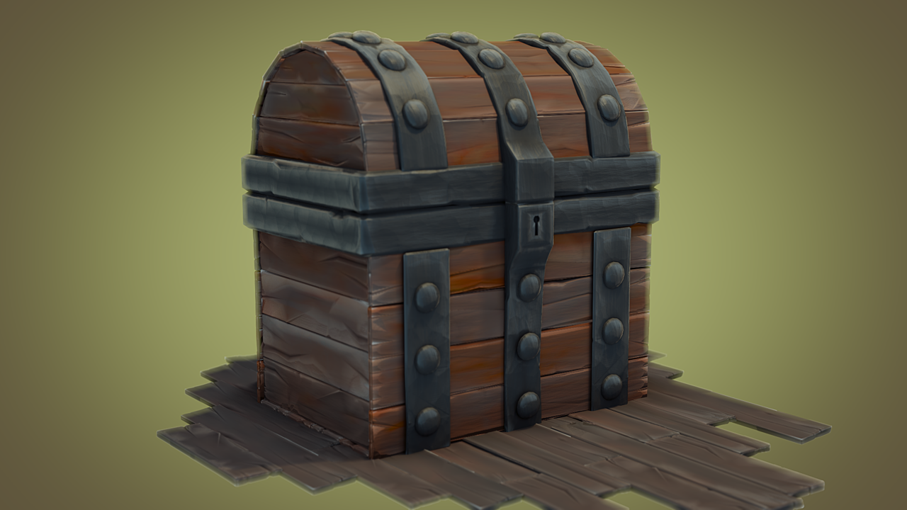 animated coins in treasure chest