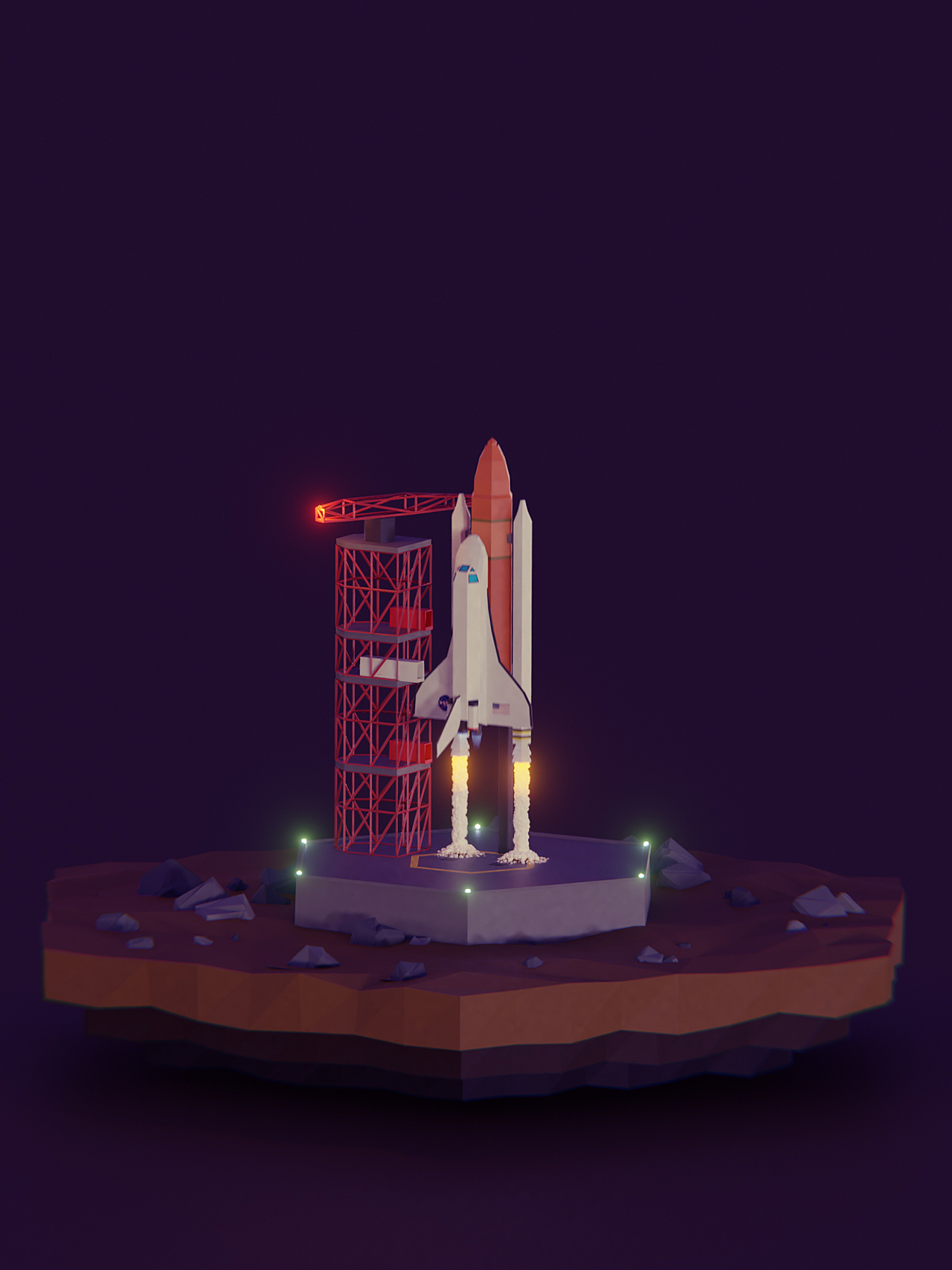 Low Poly Shuttle