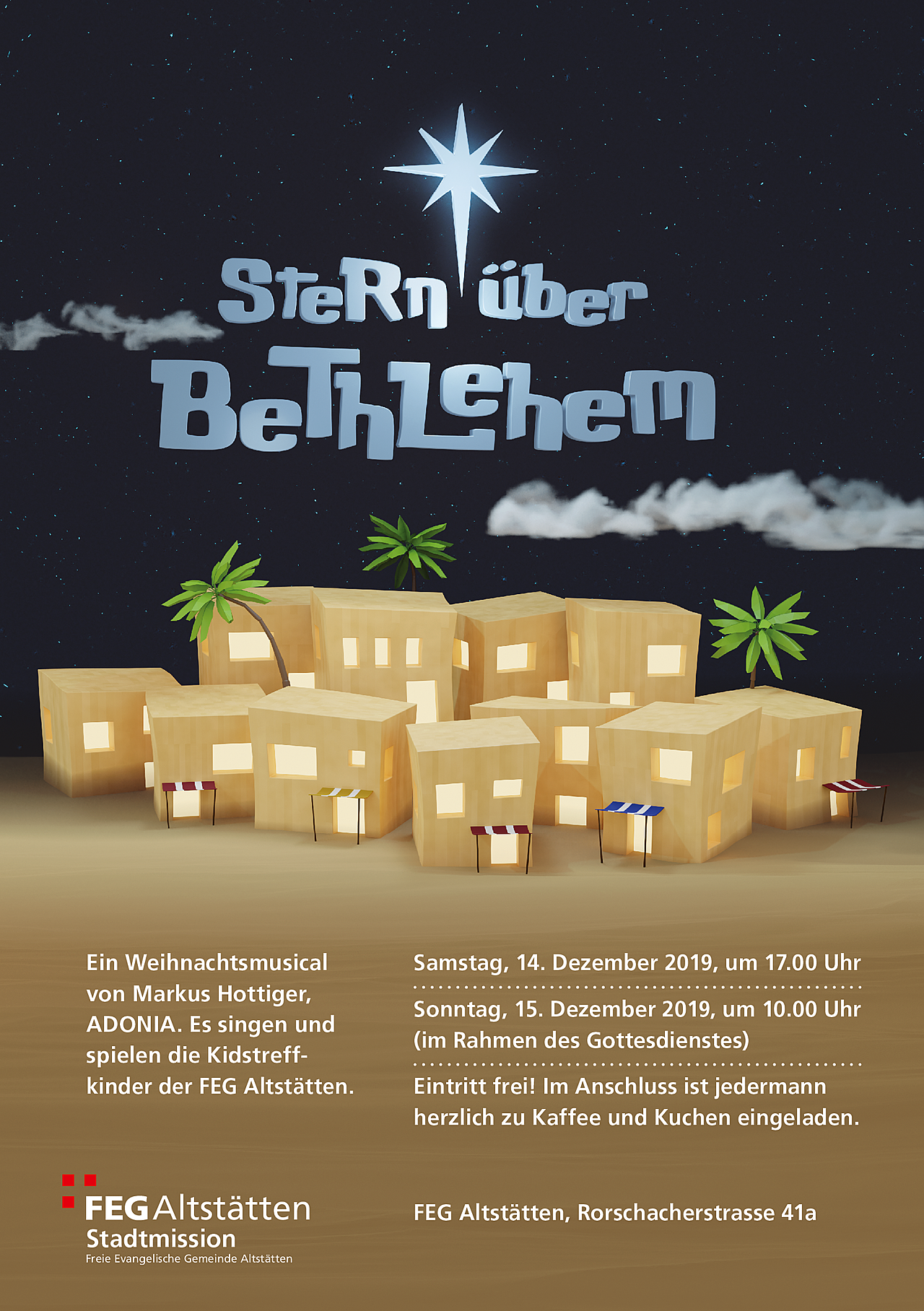 Flyer for a Christmas-Play