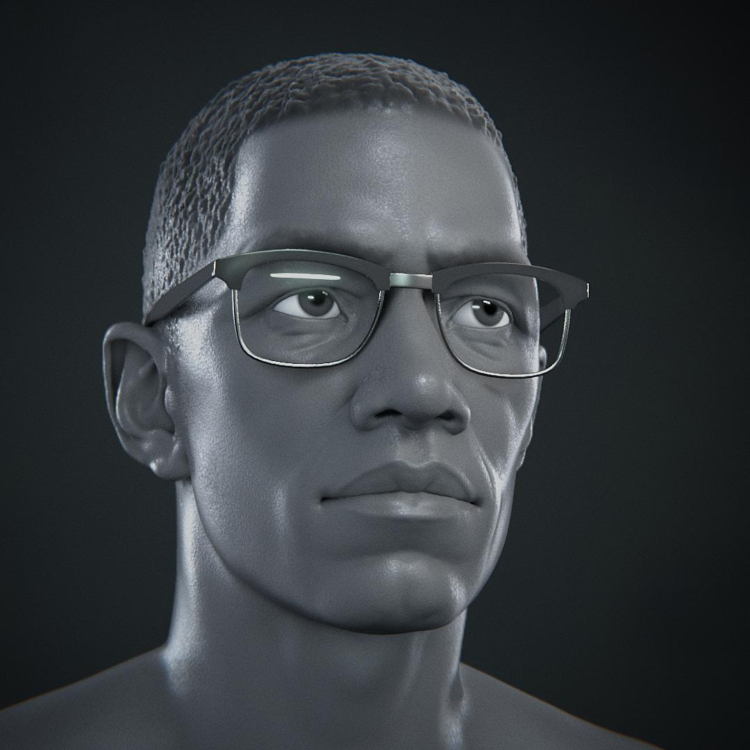 "Likeness Portrait: ""Malcom X"""