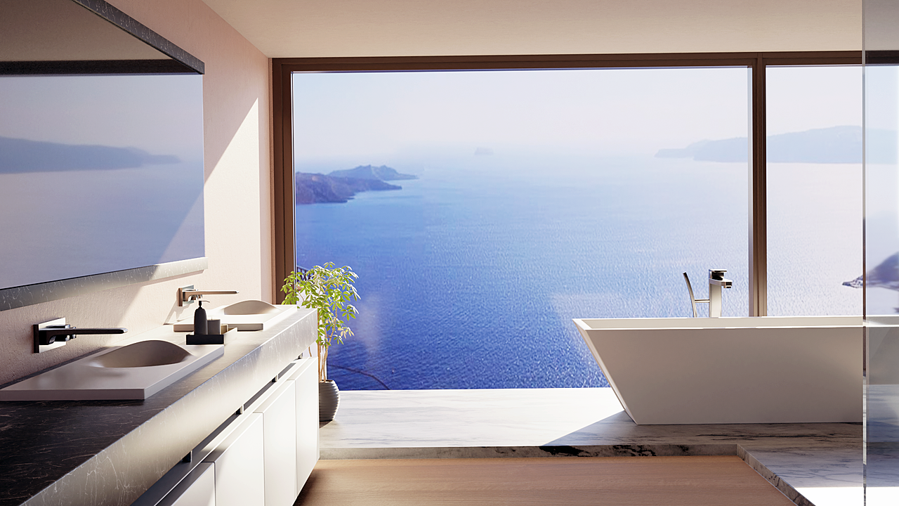 Modern Cycladic Bathroom