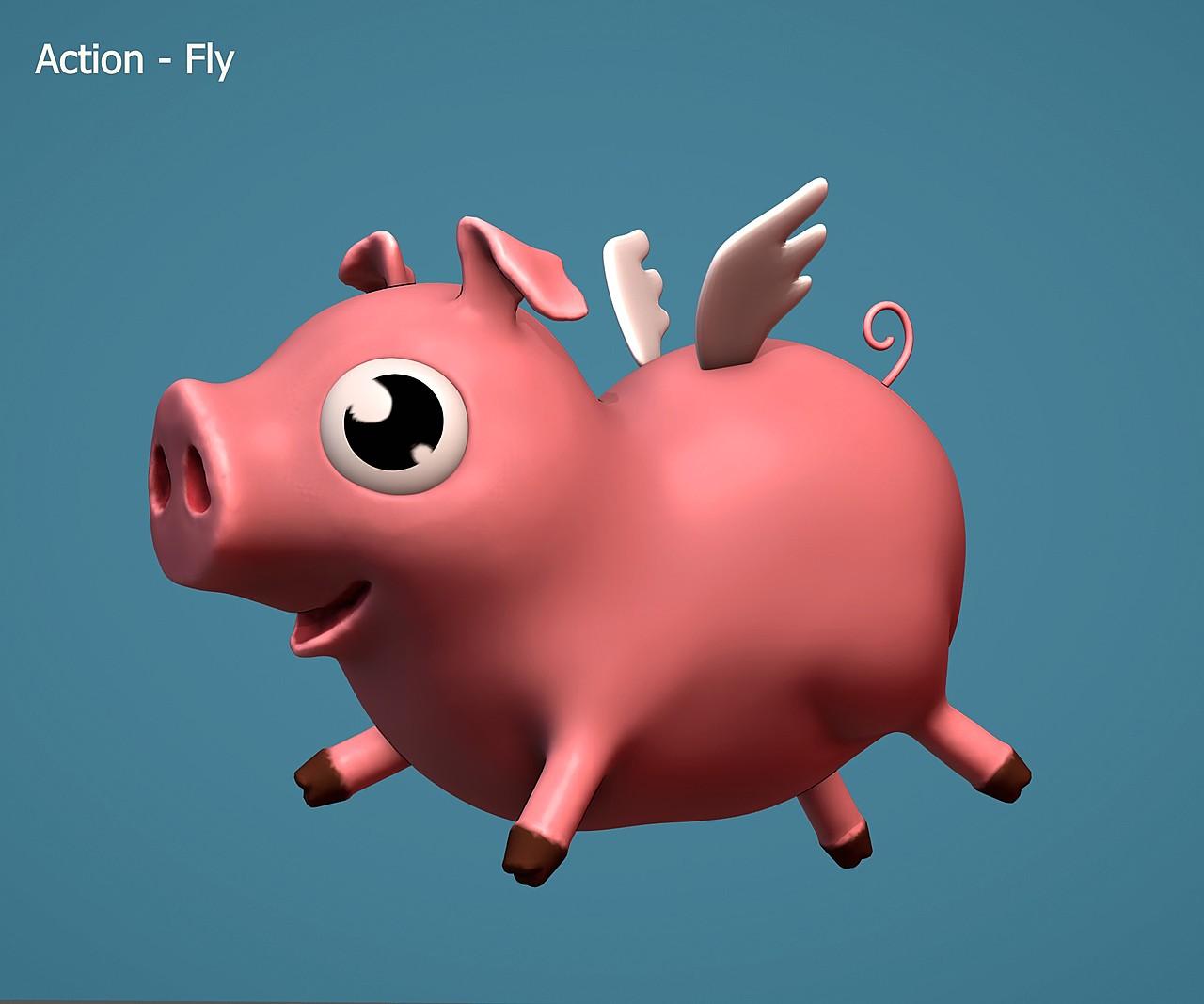 Flying pig - SculptJanuary2020, day 17
