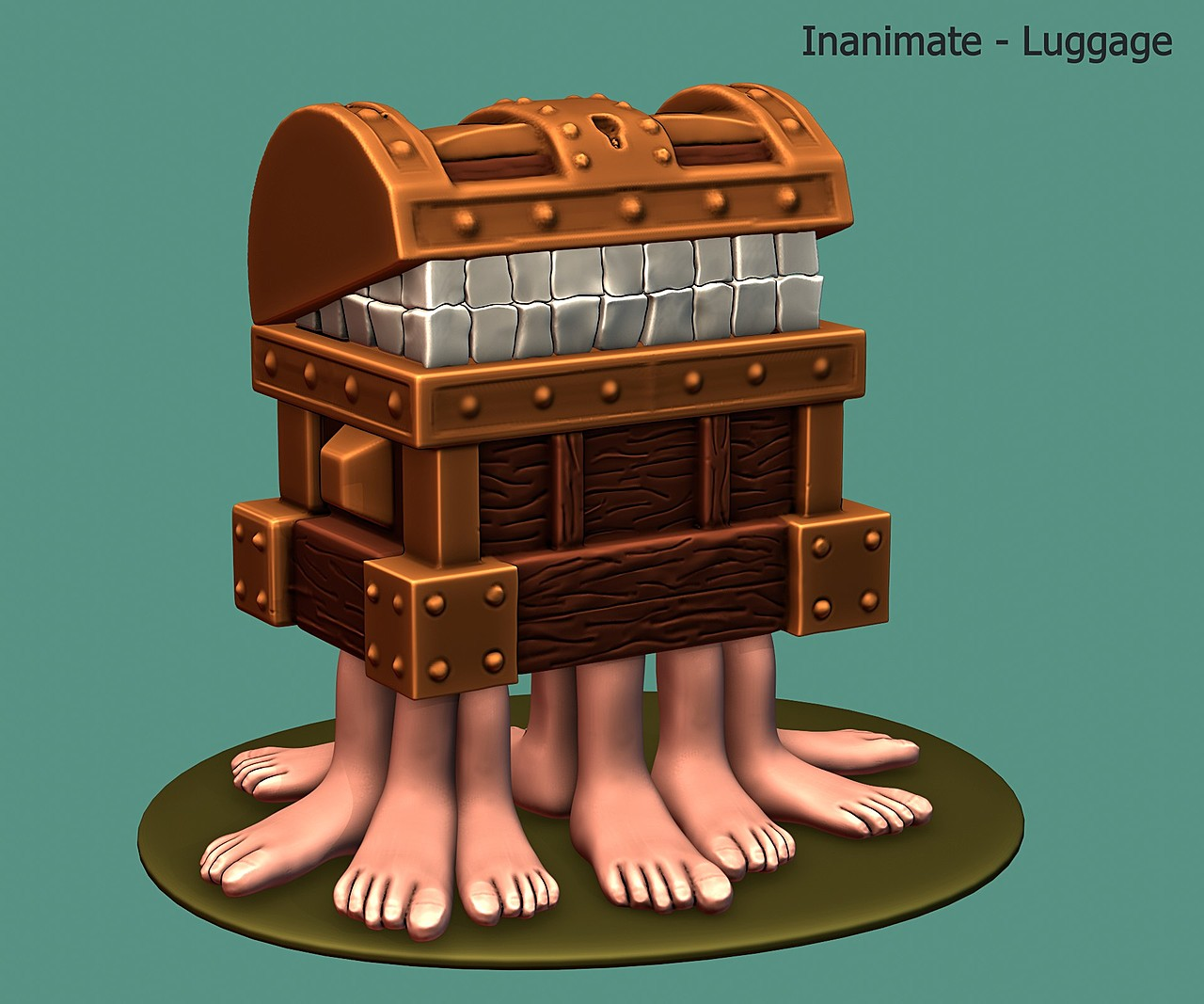 The Luggage - SculptJanuary2020, day 26