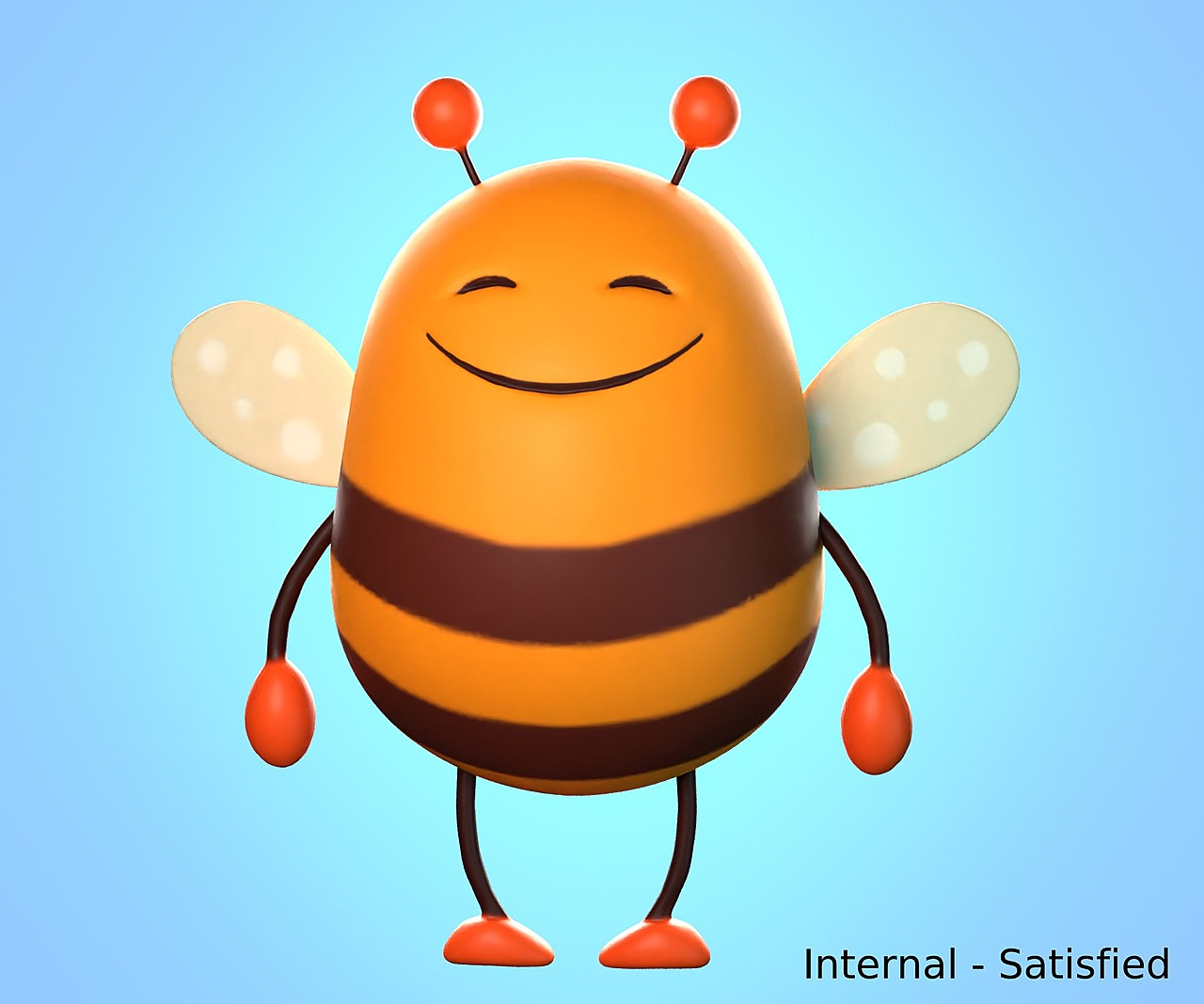 Satisfied bee - SculptJanuary2020, day 27