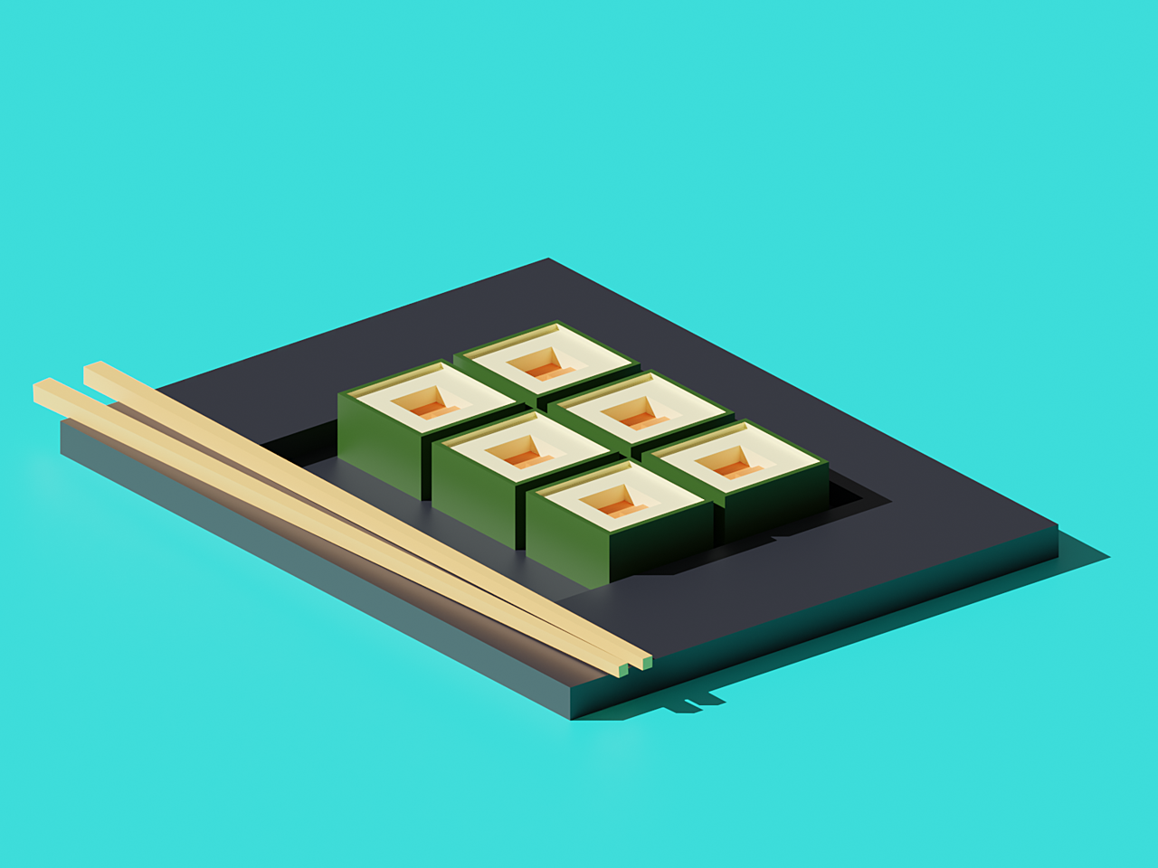 Sushi Platter - Polygon Runway Tutorial
