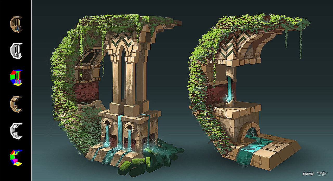 Ruins - A Polycount Challenge