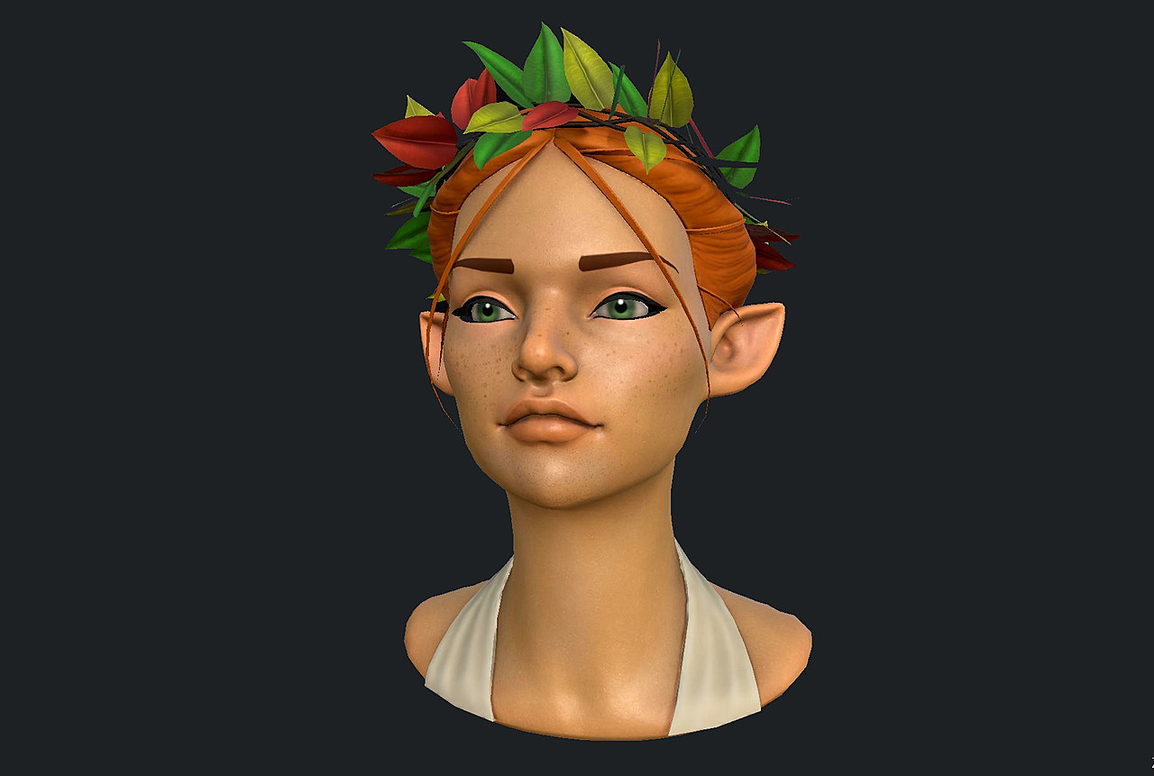 Forest Female Elf Bust