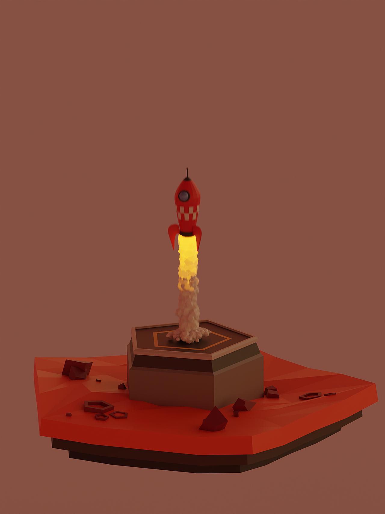 Low Poly Rocket