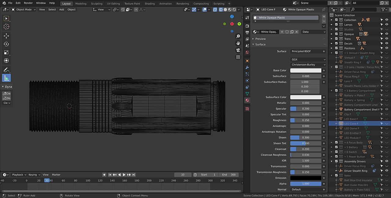 Nebo Redline Select RC 6998 Flashlight Assembly Animation