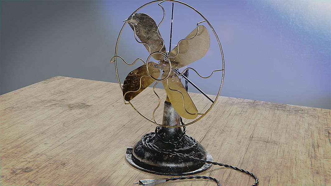 Fan Texture in Substance Painter and Blender with post compositing effects