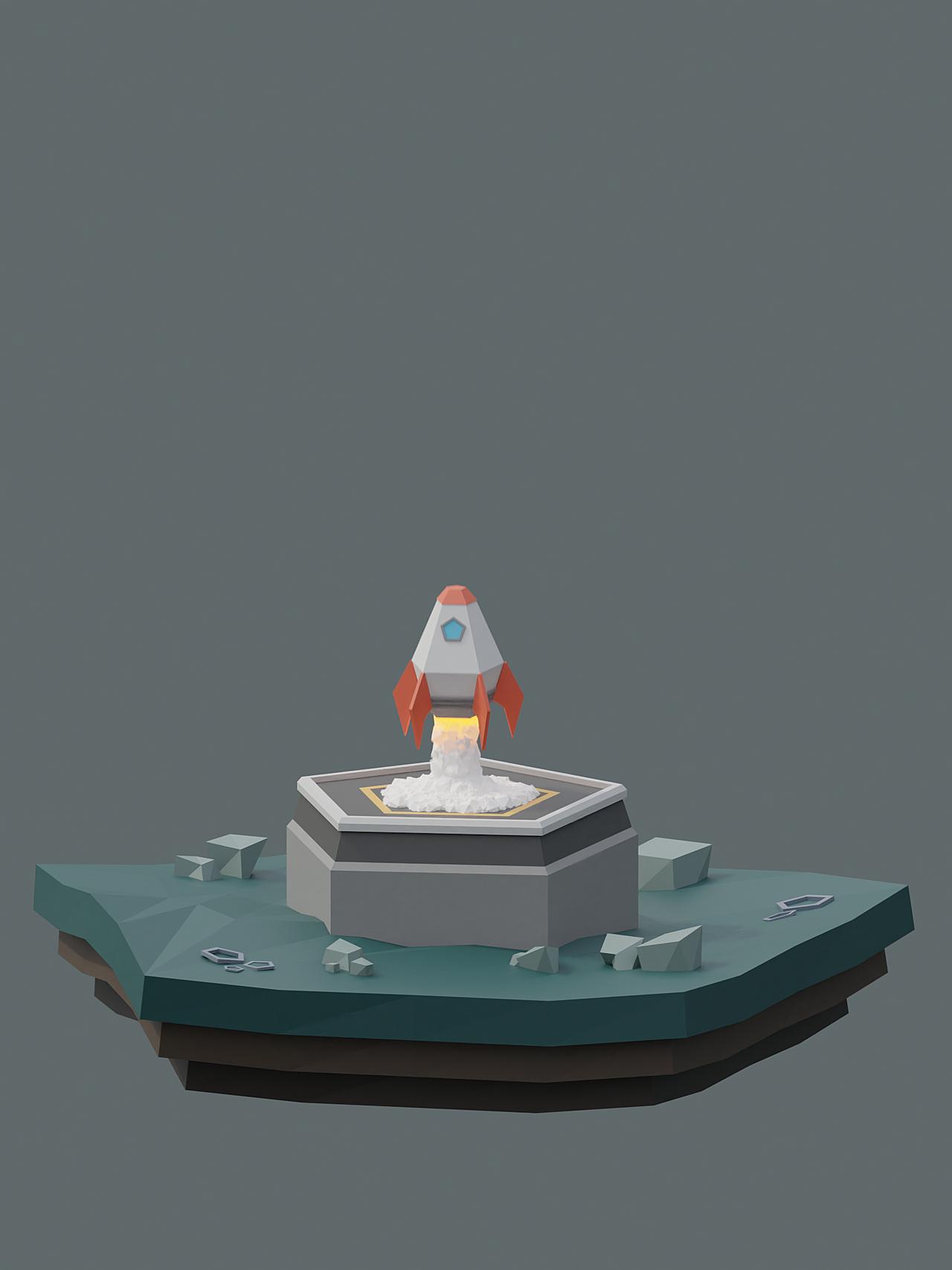 Lowpoly Rocket