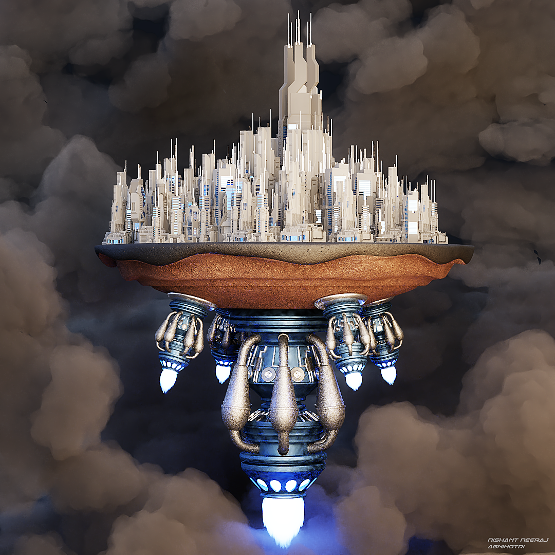 Sci-fi Cloud City
