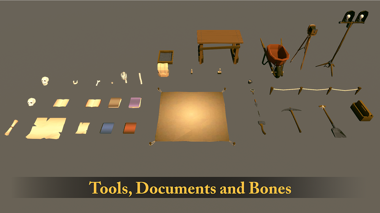 Archaeology Asset Pack | Lowpoly