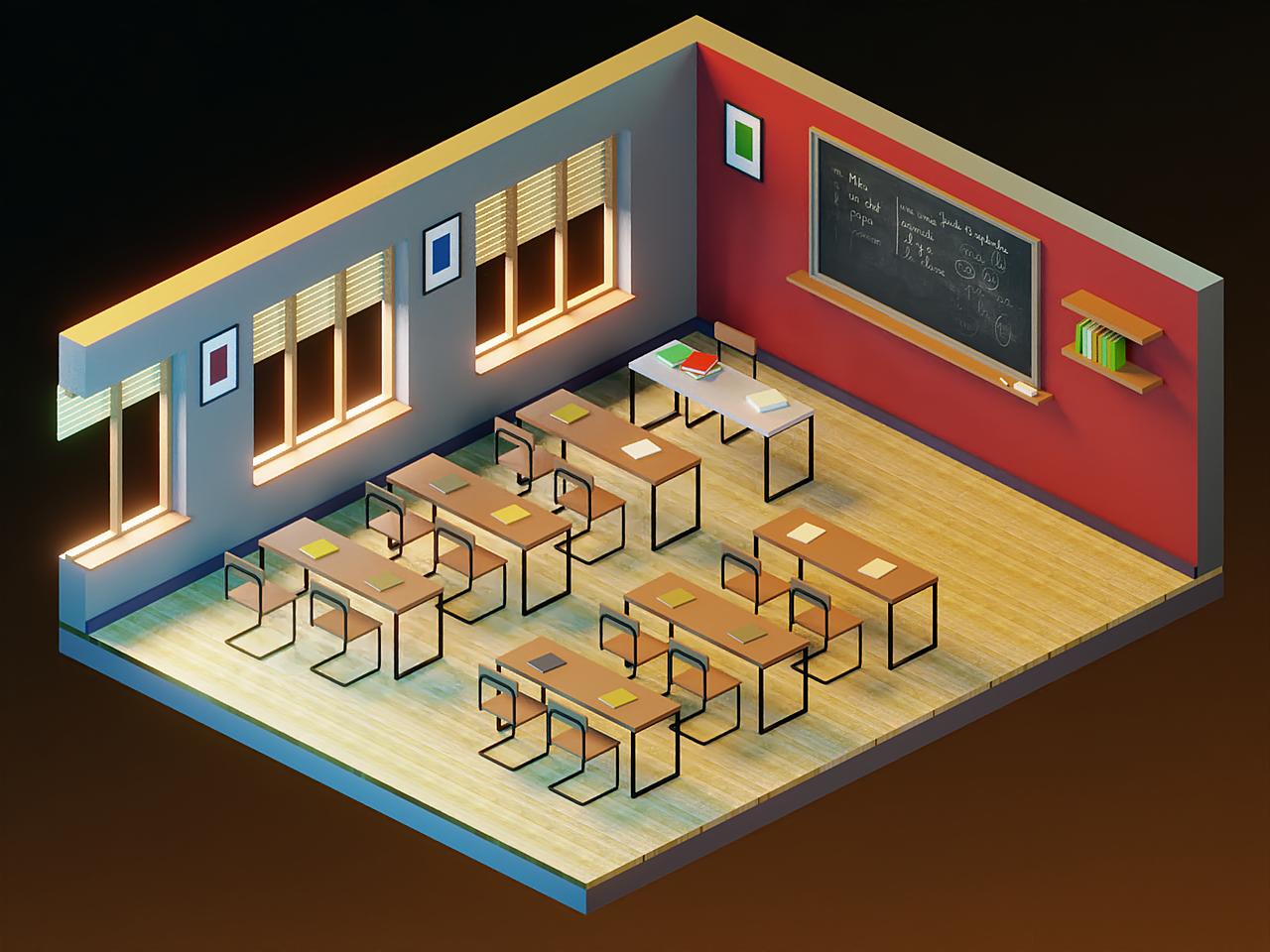 Classroom Isometric