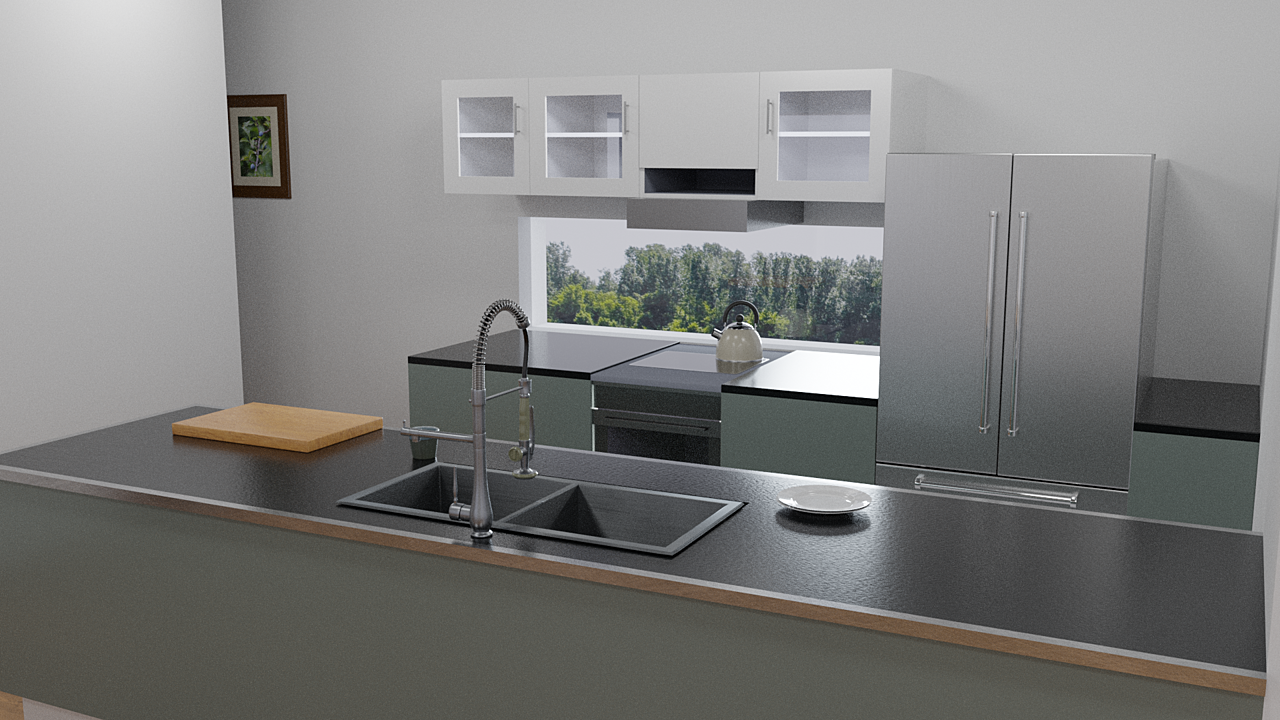 Kitchen - Cycles render