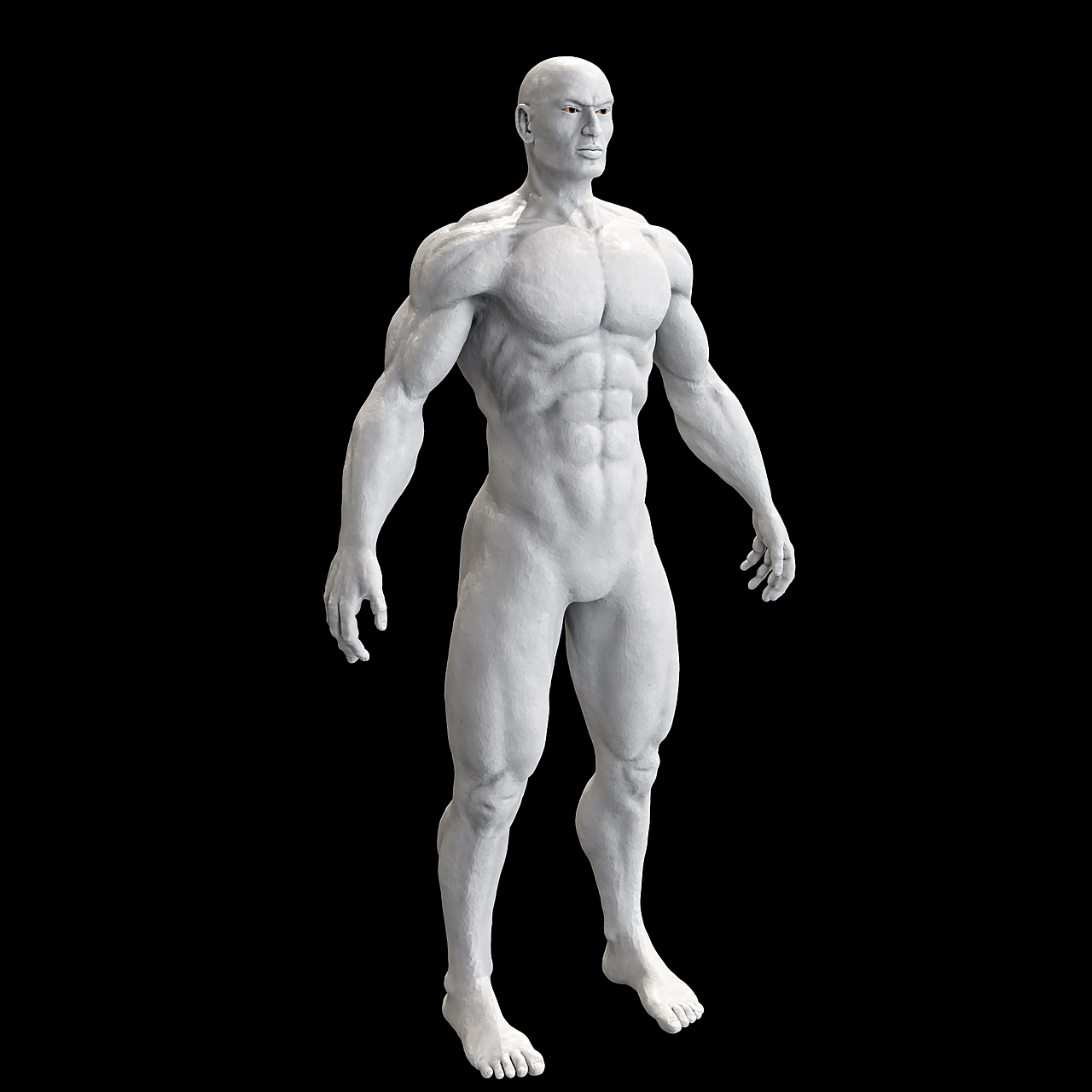 Practicing Human Sculpture - full body