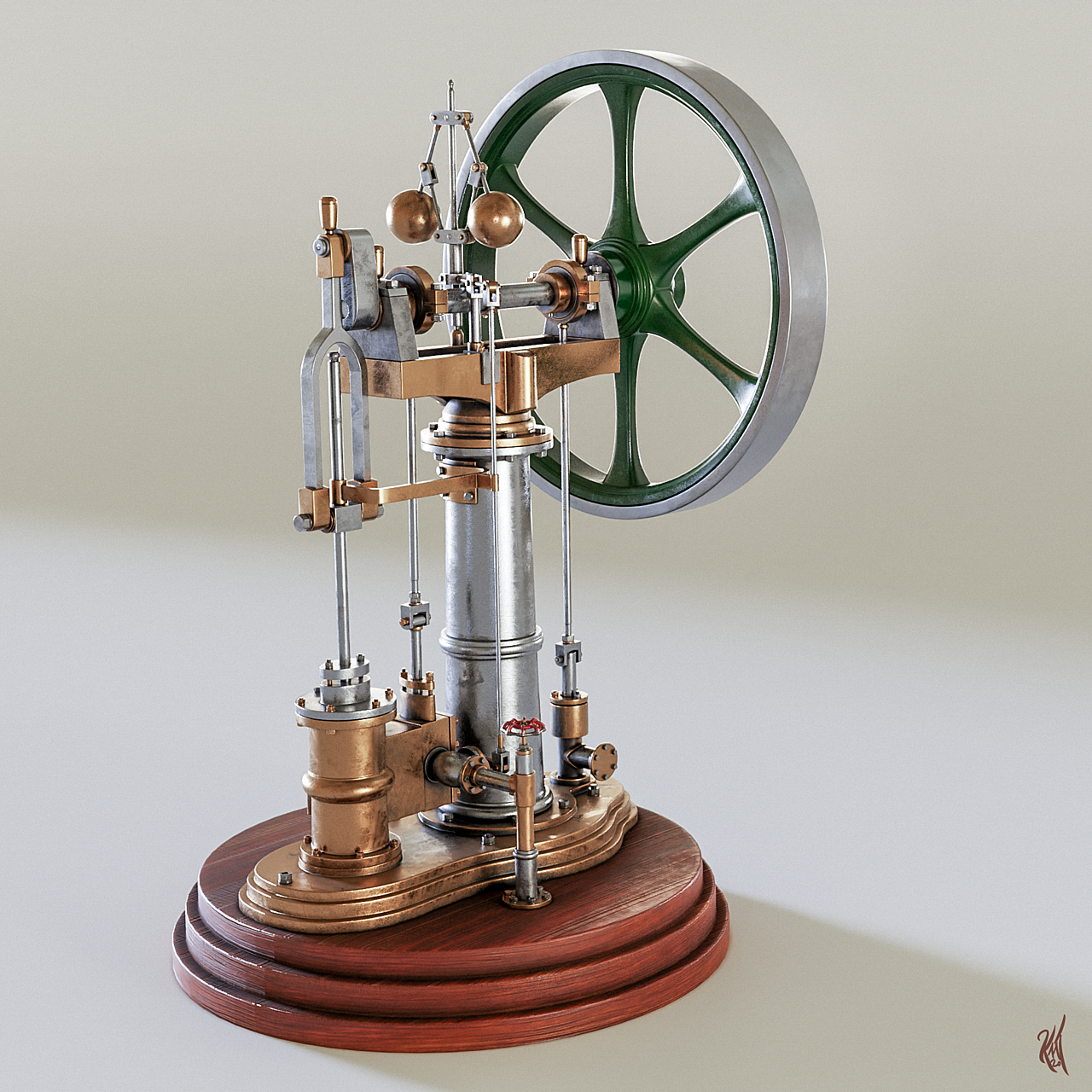 Benson Vertical Engine