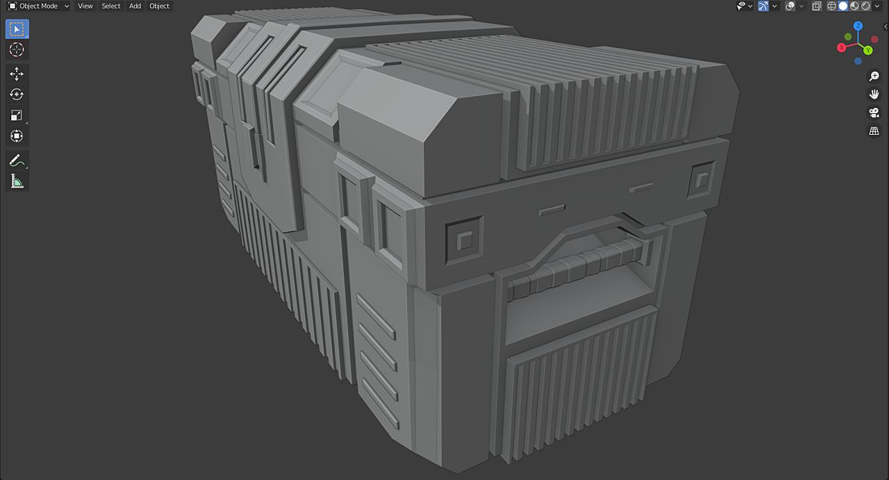 Sci-Fi Crate Practice