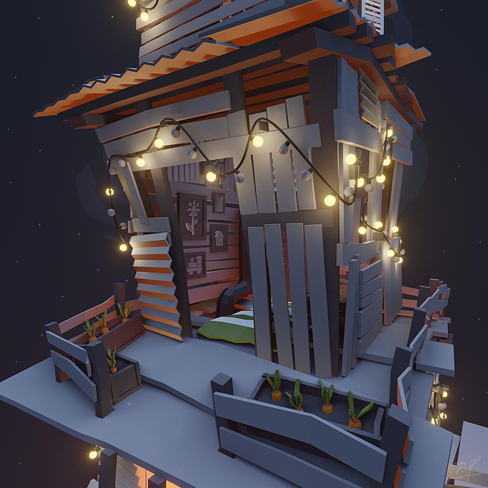 A wobbly shack