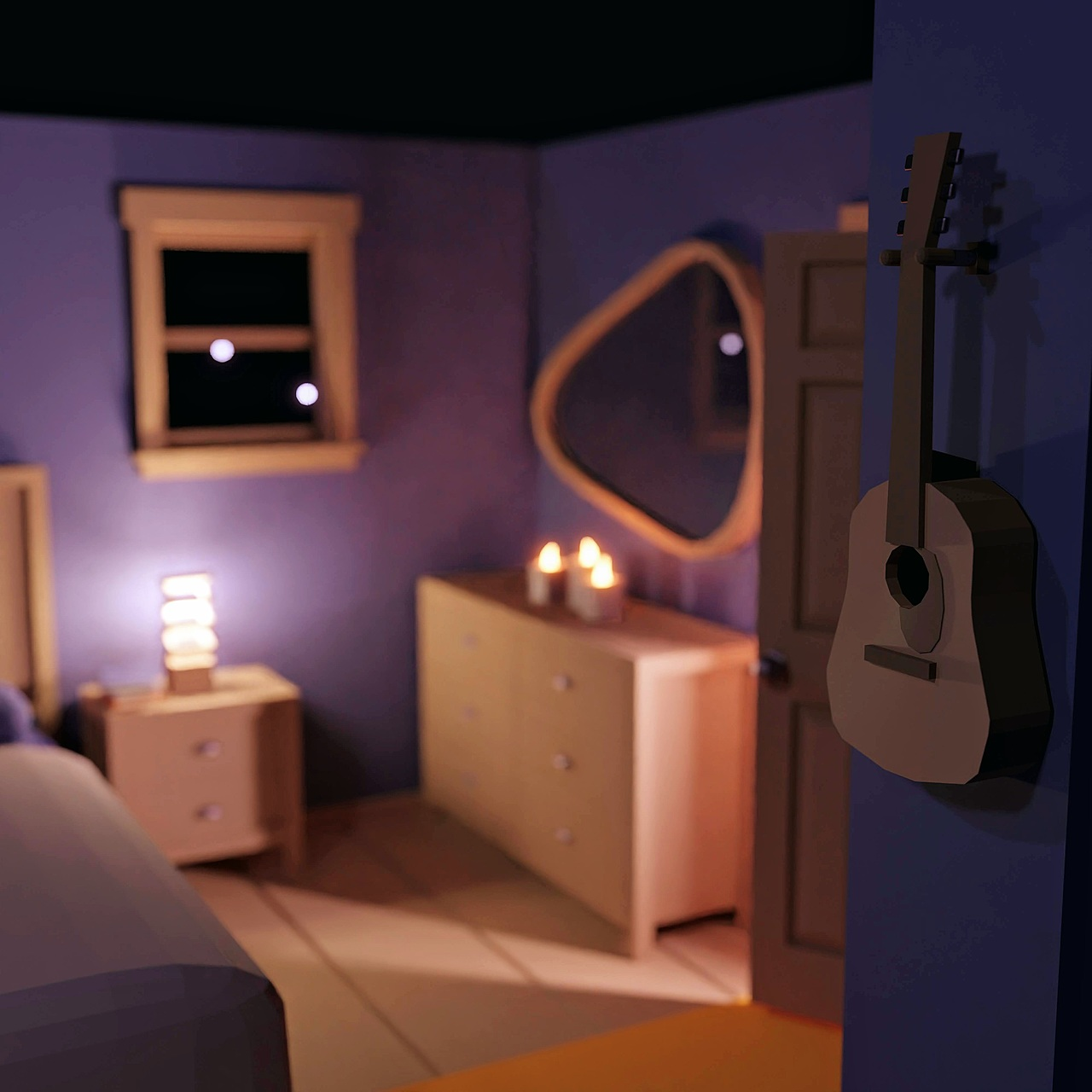 3D Modeling Exercise: Low Poly Room