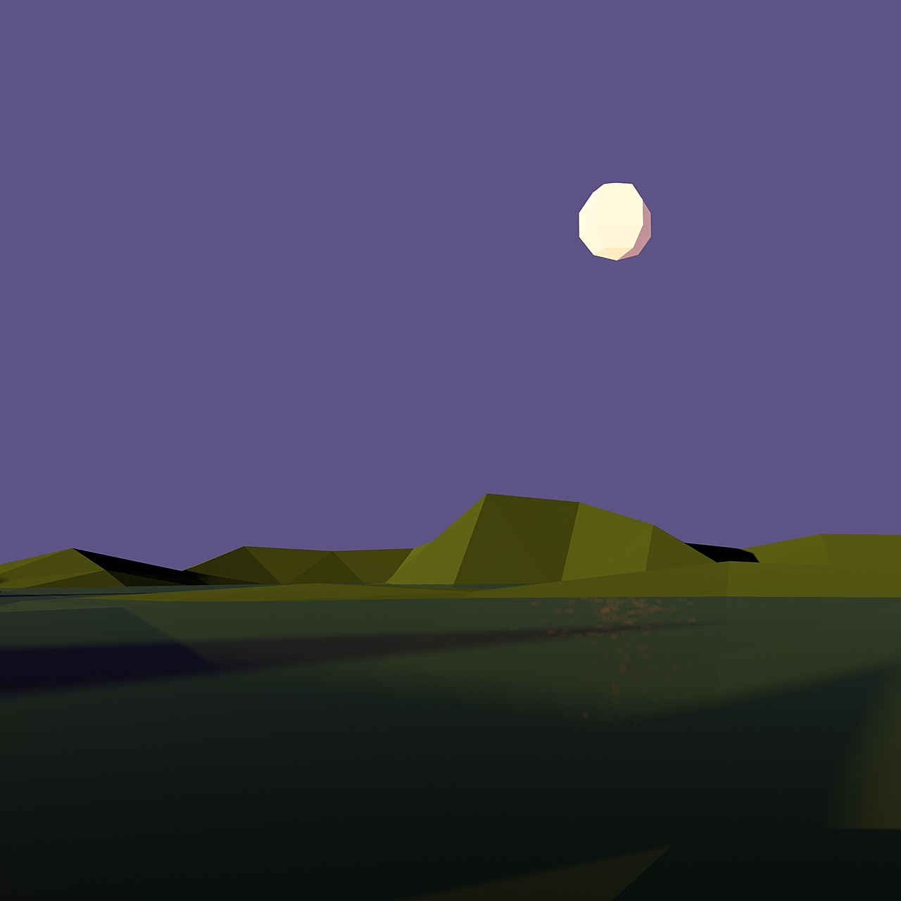 Looping Day/Night Animation: Low Poly Terrain