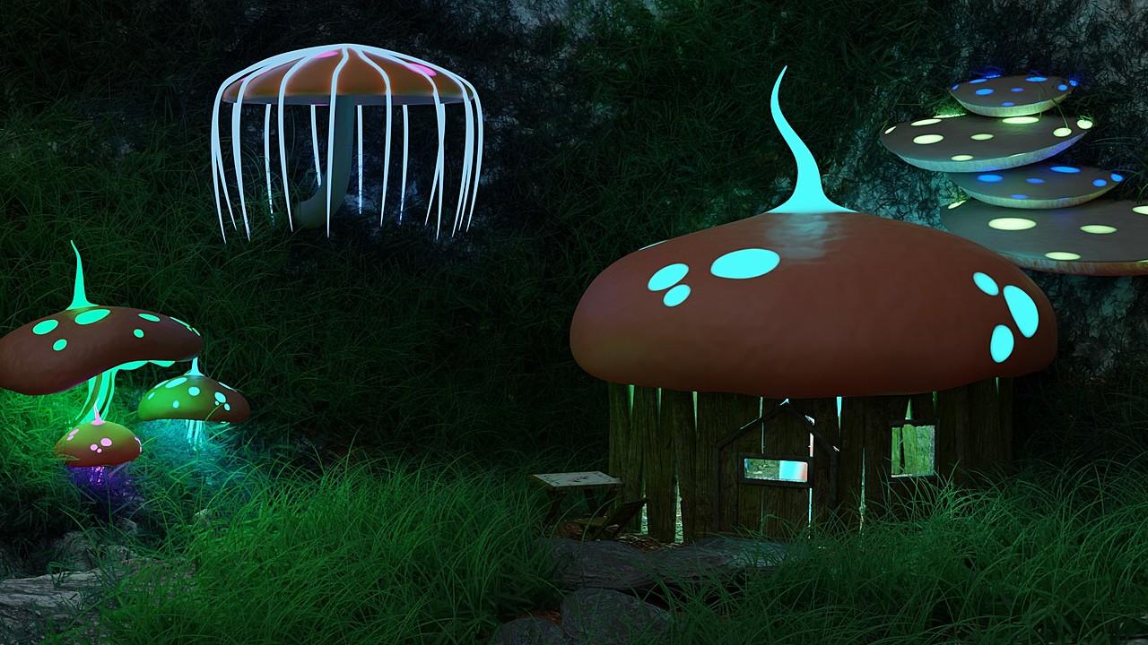 CG Boost mushroom house