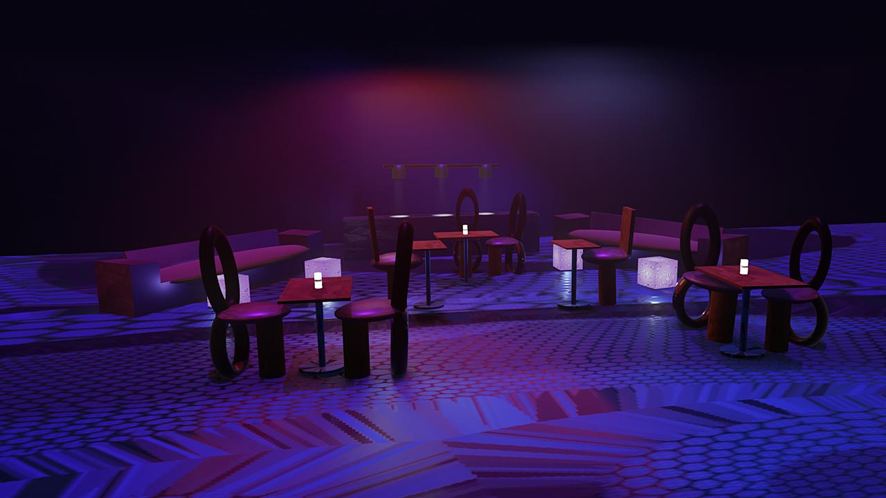 Cyberpunk/Goth Coffee shop