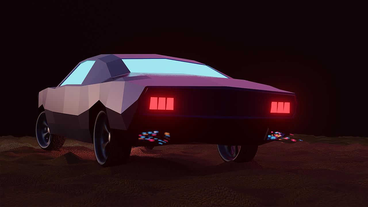 Low Poly Car Design