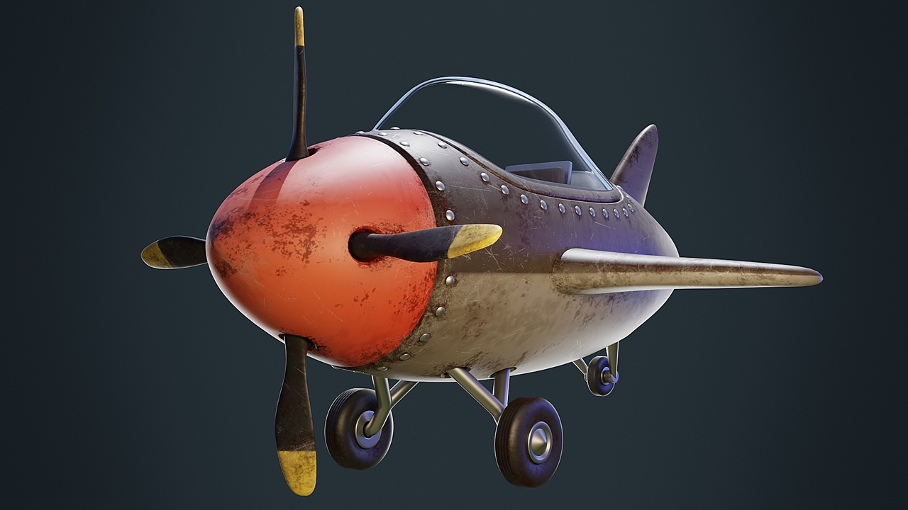 Stylized WWII Fighter Plane