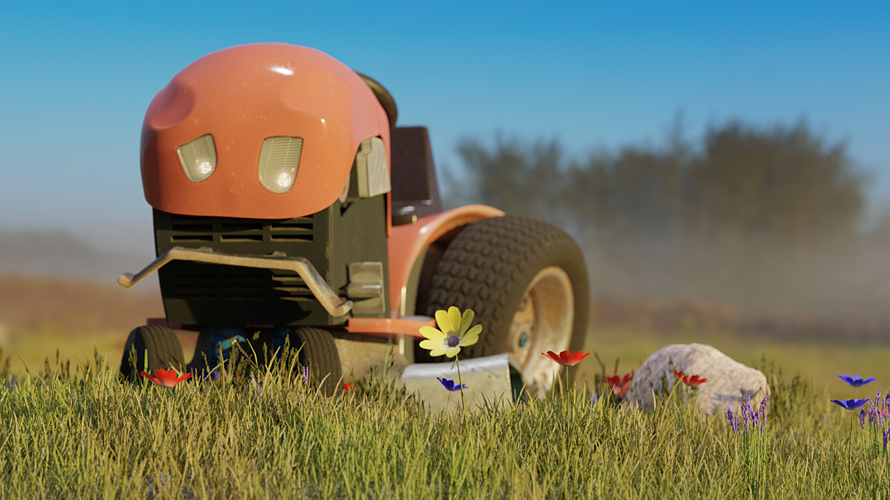 Li'l Red--Tractor Character