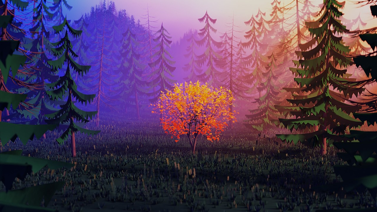 Stylized 3d Forest Environment