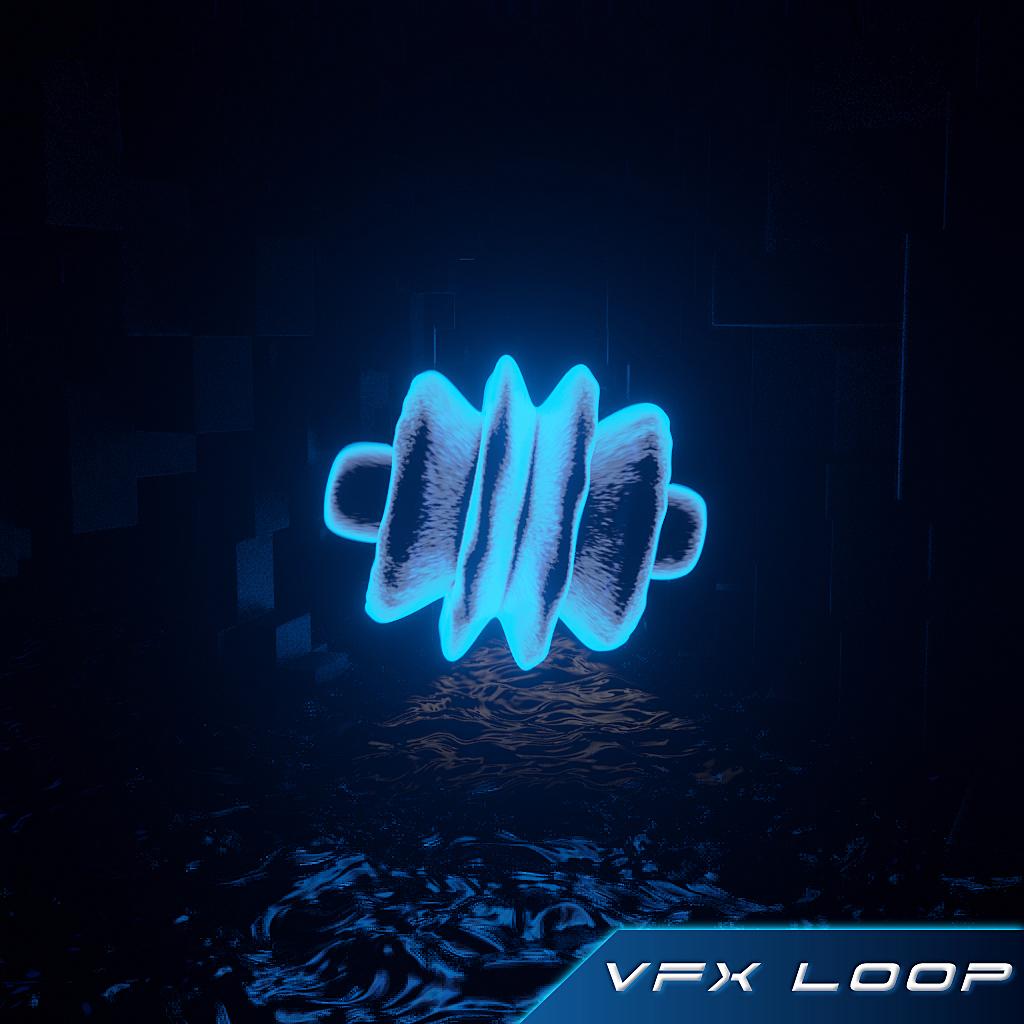 Pulsing orb VFX loop