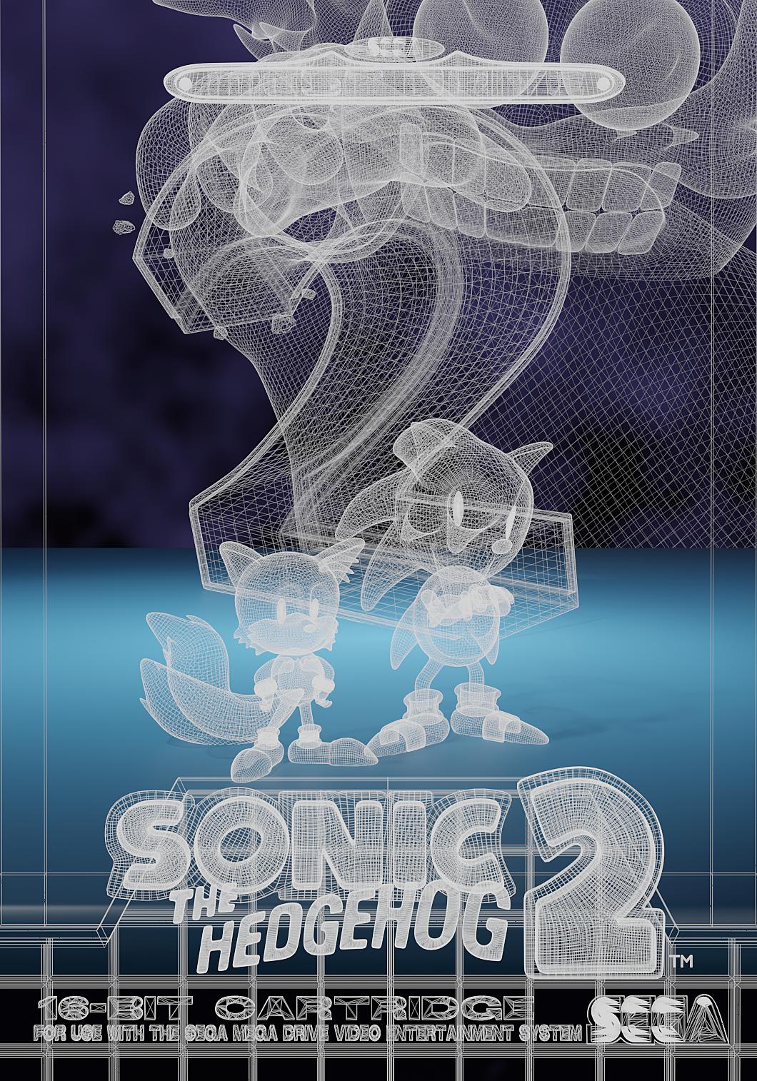 Sonic the Hedgehog 2 - Mega Drive Box Art